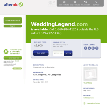 Weddinglegend Com At Wi Domain Auction Buy Sell Distinctive