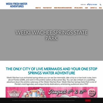 Веб сайт weekiwachee.com