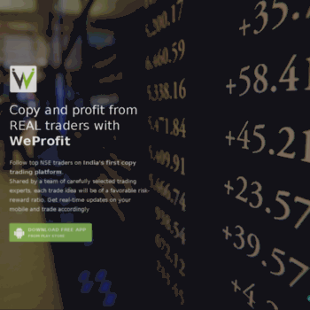 weprofit in at WI  WeProfit - India's first copy trading