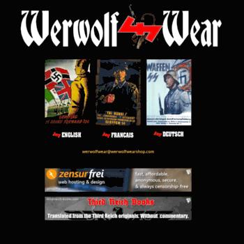 werwolfwear com at WI  Werwolf Wear – rac,oi,III reich