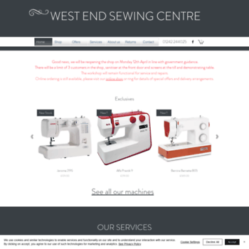 Westendsewing.co.uk thumbnail