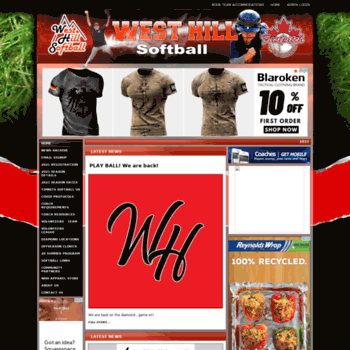 Westhillsoftball.ca thumbnail