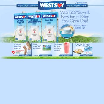 westsoymilk com at Website Informer  WestSoy  Visit West Soy