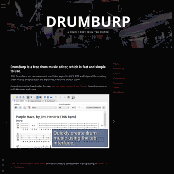 whatang org at WI  DrumBurp | A simple free drum tab editor