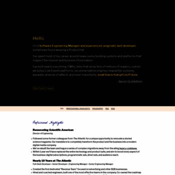 whatisjasongoldstein com at WI  Jason Goldstein | Developer