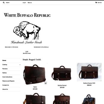 white buffalo republic com at wi white buffalo republic leather goods
