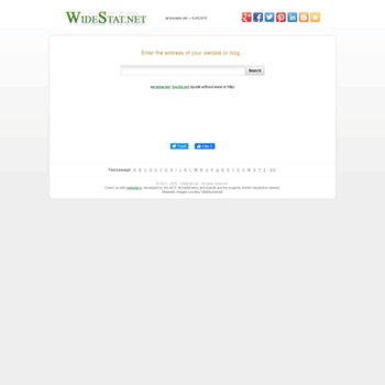 Widestat.net thumbnail