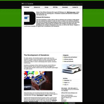 wiiuscene com at WI  Wii U Scene / Games / Homebrew / Apps