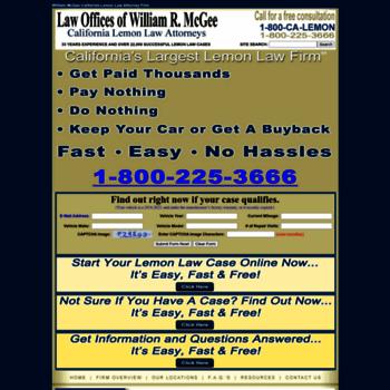 Lemon Law California >> Williammcgeecalifornialemonlawattorneyfirm Com At Wi