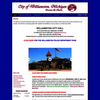 Williamston-mi.us thumbnail