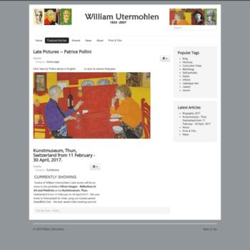 Williamutermohlen.org thumbnail