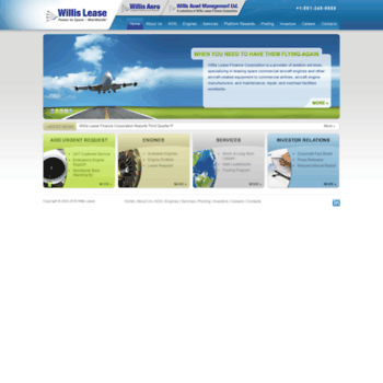 willislease com at WI  Aircraft Engines Leasing , Emergency
