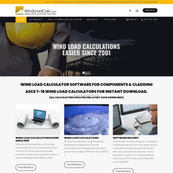 windloadcalc com at WI  Wind Load Calculator | Wind Load Calculation