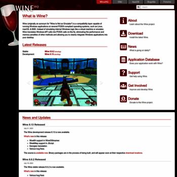 winehq org at WI  WineHQ - Run Windows applications on Linux