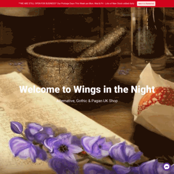 wings-in-the-night co uk at WI  Wings in the Night Gothic