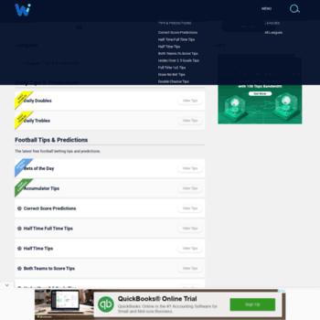 wininbets com at WI  Betting Predictions, livescores
