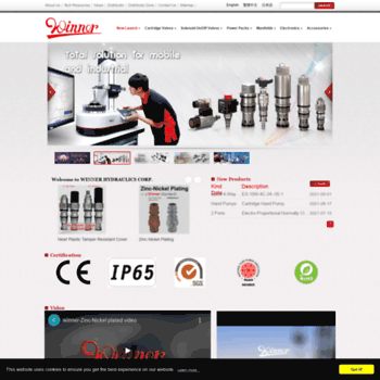 winnerhydraulics com at WI  Cartridge Valves, Solenoid