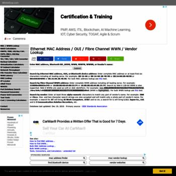 wintelguy com at WI  MAC Address / WWN / Vendor Lookup - WintelGuy com