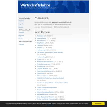 Wirtschafts-lehre.de thumbnail