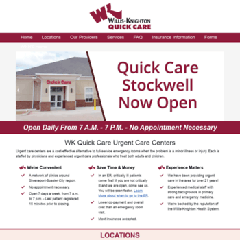 Wkquickcare Com At Wi Wk Quick Care Urgent Care In Louisiana