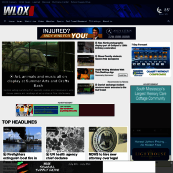 wlox com at WI  Home - WLOX-TV Biloxi, Gulfport, Pascagoula