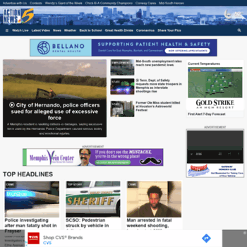 wmcactionnews5 com at WI  Home - Breaking News, Weather, Traffic and