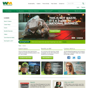 wmcareers com at WI  Careers | Waste Management