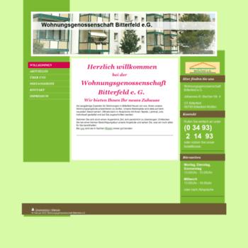 Wohnungsgenossenschaft-bitterfeld.de thumbnail
