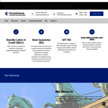 wonderlandgmbh com at WI  Wonderland GmbH | Providers of