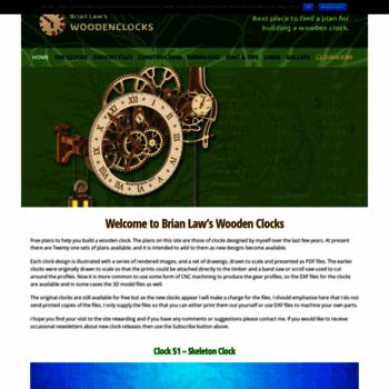 Woodenclockscouk At Website Informer Home Visit Woodenclocks
