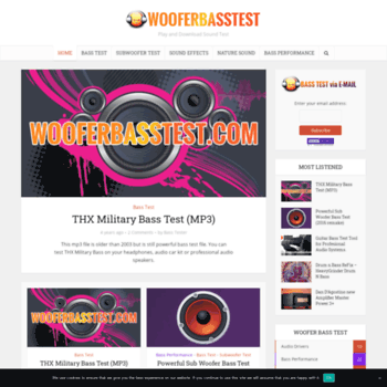 wooferbasstest com at WI  Woofer and Bass Test – Play and