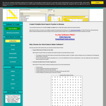 wordsearchprinter com at WI  Word Search Maker - word puzzle