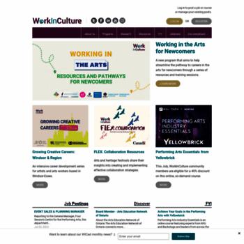Workinculture.ca thumbnail