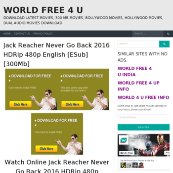 worldfree4uch com at WI  World Free 4 U - Download Latest