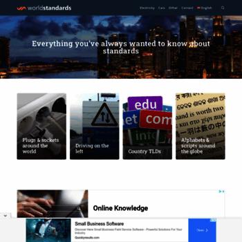 Worldstandards.eu thumbnail