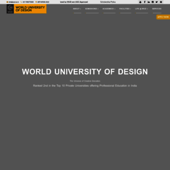 Worlduniversityofdesign.ac.in thumbnail