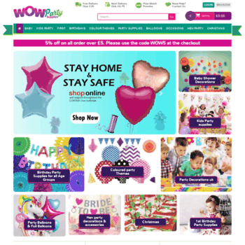 wowpartysupplies co uk at WI  Cheap Party Supplies UK, Party
