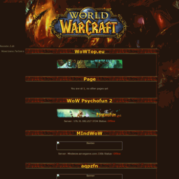 wowtop eu at WI  WoWTop eu - WoW Private Server Toplist