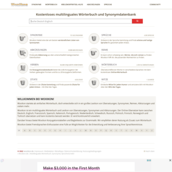 Woxikonde At Wi Woxikonde Multilinguales Wörterbuch