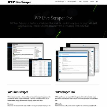 wplivescraper com at WI  WP Live Scraper