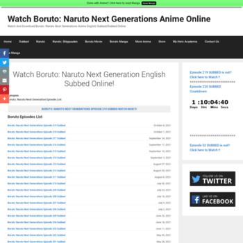 ww1 watchboruto com at WI  Watch Boruto: Naruto Next