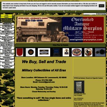 wwiigimilitarysurplus com at WI  Overlooked Military Surplus