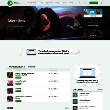 xboxachievements com at WI  Xbox One, Xbox 360 Achievements, News