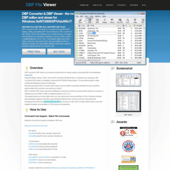 xdbf com at WI  Dbf Editor : DBF Converter & DBF Viewer