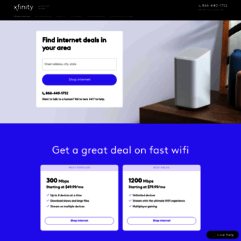 xfinityspecial com at WI  Save on Internet, TV and Phone