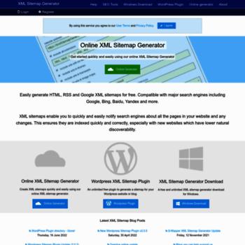 xmlsitemapgenerator org at WI  Free Sitemap Generator • XML • HTML