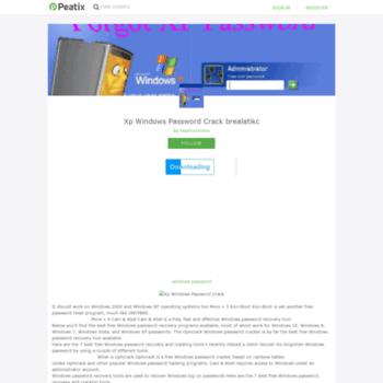 Веб сайт xp-windows-password-crack-78.peatix.com