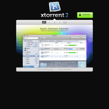 xtorrent com at WI  Xtorrent P2P (for Mac OS X)