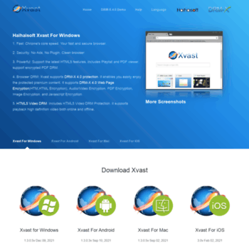 xvast com at WI  Xvast - Fast and Secure Browser -PDF DRM,Browser