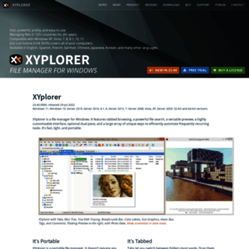 xyplorer com at WI  XYplorer - File Manager for Windows